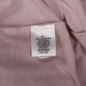 Simply Vera Vera Wang Tops - Simply Vera Vera Wang Womens Gathered Top Pink